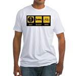 Eat Sleep Bike Fitted T-Shirt