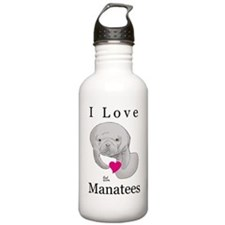 I Love Manatees Water Bottle