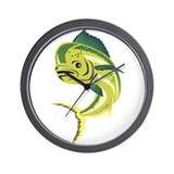 Dorado Dolphin Fish or mahi-m Wall Clock