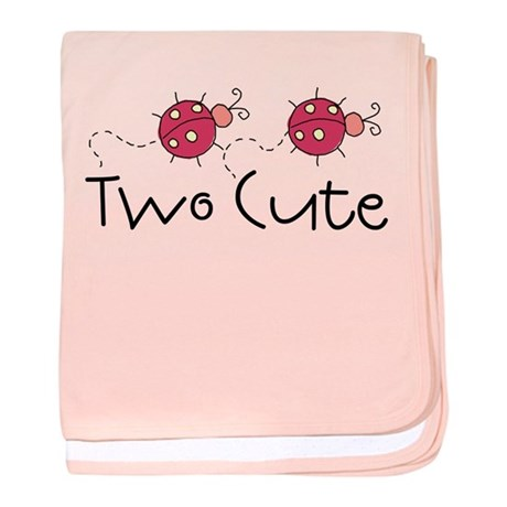 Two Cute Ladybugs Infant Blanket