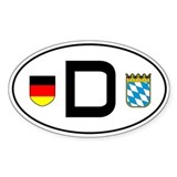 Germany car sticker (Bayern variant)