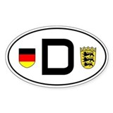 Germany car sticker (Baden-Wuerttemberg variant)