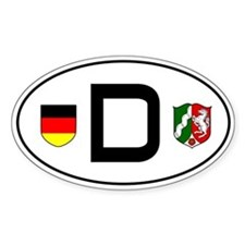 Germany car sticker (Nordrhein-Westfalen variant)