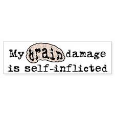 SI Brain Damage Sticker (Bumper)