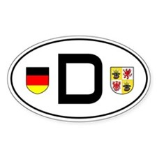Germany car sticker (Mecklenburg-Vorp. variant)