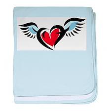 Flying Heart Infant Blanket