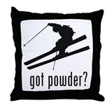 Skiing 1 Throw Pillow
