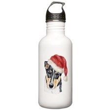Christmas Collie, Short-haire Water Bottle