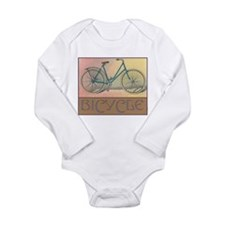 Bicycle Long Sleeve Infant Bodysuit