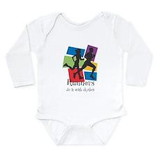 Runners Do It with Rhythm Long Sleeve Infant Bodys
