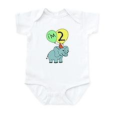 Second Birthday Elephant Infant Bodysuit