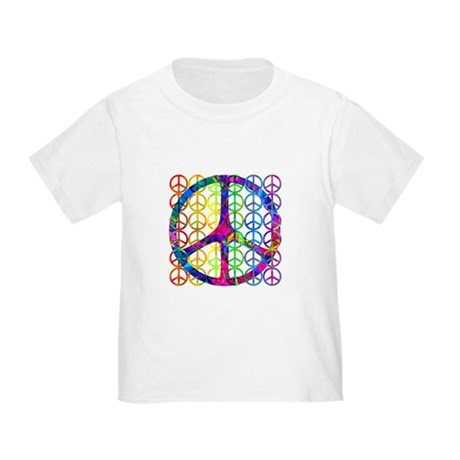 Rainbow Peace Symbols Toddler T-Shirt