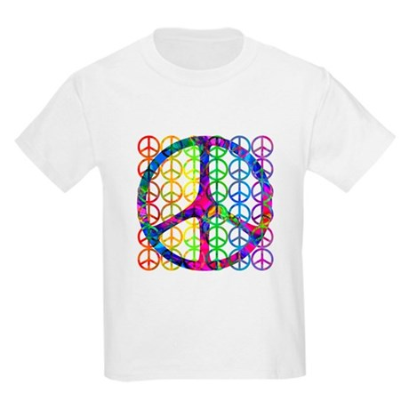 Rainbow Peace Symbols Kids T-Shirt
