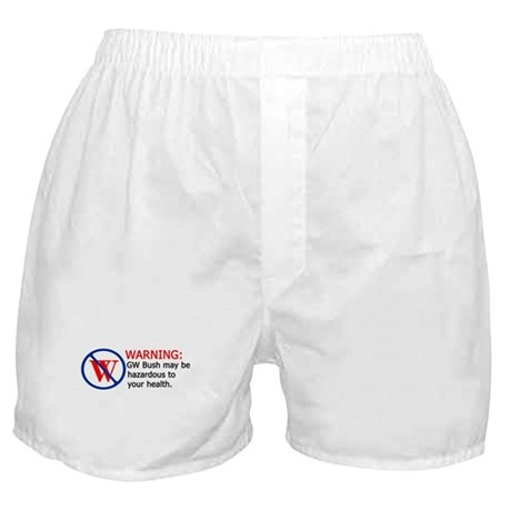 Bush Warning Boxer Shorts