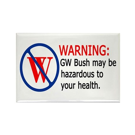 Bush Warning Rectangle Magnet (100 pack)