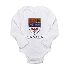 Canada Coat of Arms Long Sleeve Infant Bodysuit
