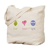 Live Love Spa Tote Bag