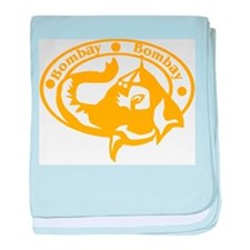Bombay Passport Stamp Infant Blanket