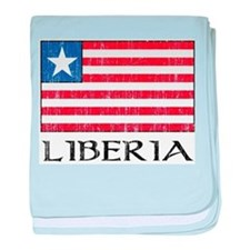 Liberia Flag Infant Blanket