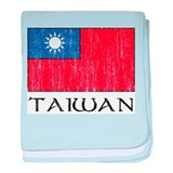 Taiwan Flag Infant Blanket