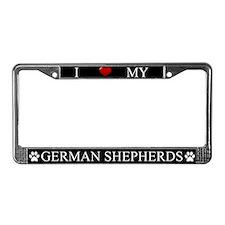 Black I Love My German Shepherds Frame