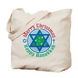 Christmas-Hanukkah Tote Bag