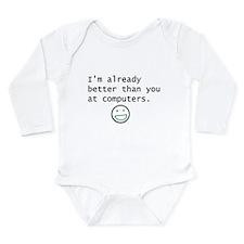 Computers Long Sleeve Infant Bodysuit