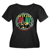 Kwanzaa Women's Plus Size Scoop Neck Dark T-Shirt