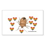 Stink Bug Sticker (Rectangle 10 pk)