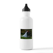 Bride Cry Parents Grave Water Bottle
