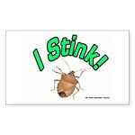 Stink Bug Sticker (Rectangle 10 pk)
