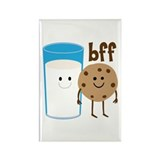 Milk & Cookies BFF Rectangle Magnet (100 pack)