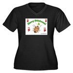 Stink Bug Women's Plus Size V-Neck Dark T-Shirt