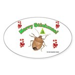 Stink Bug Sticker (Oval 10 pk)
