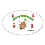 Stink Bug Sticker (Oval 50 pk)