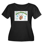 Stink Bug Women's Plus Size Scoop Neck Dark T-Shir