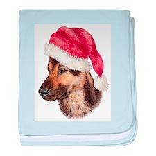 Christmas German Shepherd dog Infant Blanket