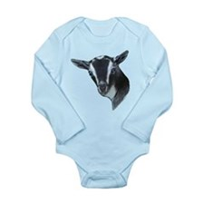 Nigerian Dwarf Goat Portrait Long Sleeve Infant Bo