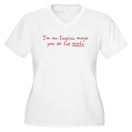 I'm an English Major Women's Plus Size V-Neck T-Sh