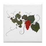 WIld Grape Red Tile Coaster