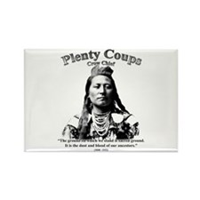 Plenty Coups 01 Rectangle Magnet (100 pack)