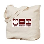 Eat Sleep Shoot Tote Bag