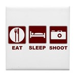 Eat Sleep Shoot Tile Coaster