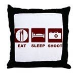 Eat Sleep Shoot Throw Pillow