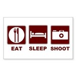 Eat Sleep Shoot Sticker (Rectangle 10 pk)