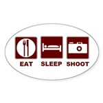 Eat Sleep Shoot Sticker (Oval 50 pk)