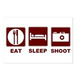 Eat Sleep Shoot Postcards (Package of 8)