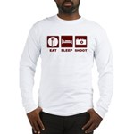 Eat Sleep Shoot Long Sleeve T-Shirt