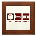 Eat Sleep Shoot Framed Tile