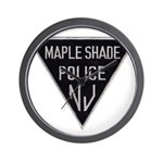 Maple Shade Police Wall Clock
